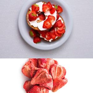 Freeze Dried Strawberries Raspberries Sour Cherries Cranberries Blueberries 100g