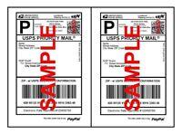 1000 Half Sheet Shipping Labels Self-Adhesive 8.5 x 11 Blank 2 Labels Per Sheet