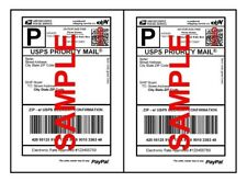 1000 Half Sheet Shipping Labels Self Adhesive 85 X 11 Blank 2 Labels Per Sheet