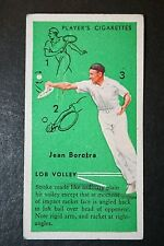 Vintage Tennis Tips  Lob Volley Technique  Jean Borotra   Original 1930's Card