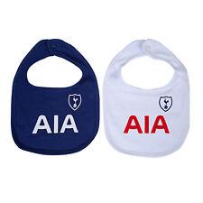 Tottenham Hotspur FC Official Football Gift 2 Pack Kit Baby Bibs