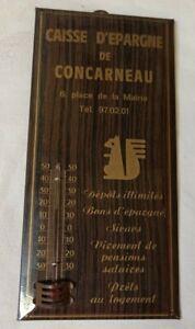 Thermomètre Caisse D'épargne Vintage