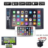 2-DIN Bluetooth Car Radio MP5 Player 6.6'' Touch Screen MP3/MP4/Audio/USB+Camera