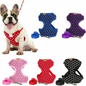 Pet Dog Harness Leash Breathable Mesh Soft Walking No Pull Adjustable Vest