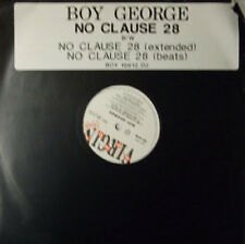 Boy George, No Clause 28, NEW/MINT UK promo 12 inch vinyl single