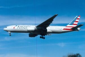 AMERICAN AIRLINES PLANE PHOTO CIVIL AIRCRAFT BOEING 777 PIC PHOTOGRAPH N760AN.