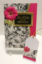 Handmade Birthday Card: Jewel Rose (Ruby Pink)