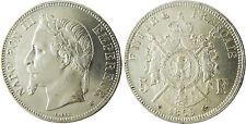 NAPOLEONE III 5 FRANCHI ARGENTO TESTA LAUREATA 1869 BB STRASBURGO CONSERVAZIONE