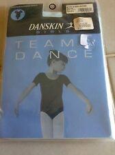 Girls Danskin Team Dance Short Sleeve Leotard Style 9391CHINA BLUE LG(12-14)
