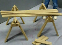 Sawhorse Set 1/10 scale Action Figure Garage Diorama dollhouse Accessories