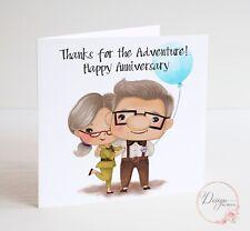 DISNEY'S UP! Anniversary Card - Husband Wife Girlfriend Boyfriend - Ellie & Carl