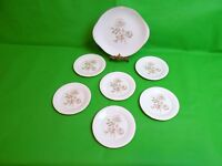 Royal Doulton Yorkshire Rose Cake Plate & 6 Side Plates