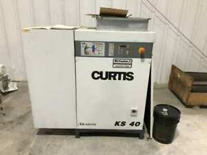 Curtis-Toledo KS 40 40HP Rotary Screw Air Compressor 125PSI 169CFM 3PH 16218hrs