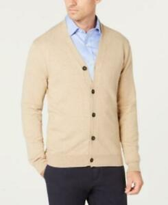 MSRP $50 Club Room Men's Knit V-Neck Cardigan Size XL Beige
