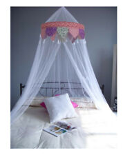 Princess Pointed Ruffle Princess Tassel White Bed Canopy FREE SHIPPING FROM USA