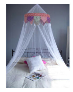 Princess Colors Ruffle Princess Tassel White Bed Canopy FREE SHIPPING FROM USA