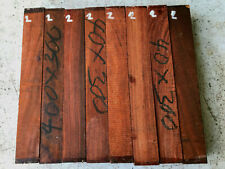 FSC East African rosewood pau rosa bookmatched razor scales 152 x 28 x 5mm