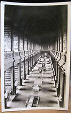Irish RPPC TRINITY COLLEGE LIBRARY Long Room Photocraft Dublin Ireland Postcard