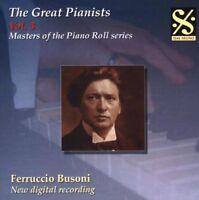 Busoni / Paganini / Liszt / Bach / Chopin - Great Pianists 3 [New CD]
