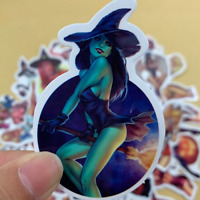50 Sexy Girl Pinup Stickerbomb Retrostickern Aufkleber Sticker Mix Decals horror