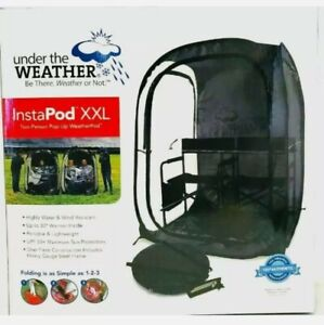 Instapod Under the Weather XXL Double Black Pop Up Canopy, 2 Person Easy Set Up