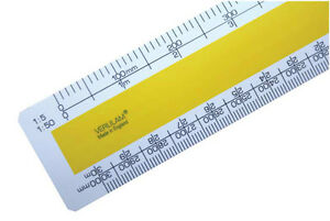 "300mm 12"" No.2 Engineers scale ruler 1:5 1:50 1:10 1:100 1:20 1:200 1:500 1:1000"