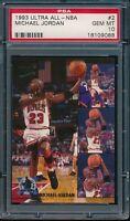 PSA 10 MICHAEL JORDAN 1993-94 Fleer Ultra All-NBA Bulls HOF GOAT RARE GEM MINT