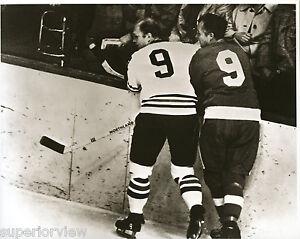 Chicago Black Hawks Bobby Hull Detroit Red Wings Gordie Howe #9 Jerseys MUST SEE