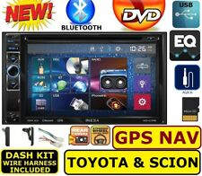 TOYOTA & SCION GPS NAVIGATION Dvd/Cd Bluetooth Usb  Car Radio Stereo Double Din
