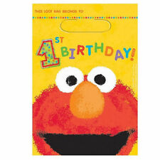 Sesame Street 1st Birthday 8 Party Favor Loot Bags Big Bird Elmo