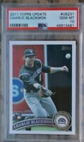 2011 Topps Update Charlie Blackmon #US231 Rookie Card RC GEM MT PSA 10