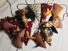 New listing 2 Handmade Cat Toy Organic Catnip Mouse w/ bell, 1 big, 1 small, random pattern