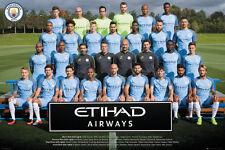MANCHESTER CITY - 2017 TEAM POSTER - 24x36 FOOTBALL SOCCER FC 34189