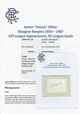 JIMMY MILLAR GLASGOW RANGERS 1954-1967 ORIGINAL AUTOGRAPH CUTTING/CARD