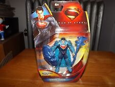 "MAN OF STEEL, STRIKE SHIELD SUPERMAN, BATTLE STAFF & SHIELD, 3.5"" FIG, NIP, 2013"