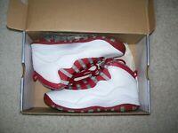 6.5Y Nike Air Jordan 10 X Red Steel 310806-161 FireRed Metallic Cement IV Shadow