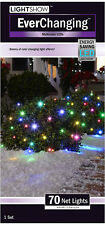 """NEW- Gemmy LightShow EverChanging Multi Color LED Net Lights (4"""" x 4"""" Inches)"""