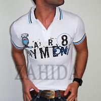 """ZAHIDA"" Manga corta Camiseta Polo Camisa Hombre Camiseta T-Shirt Slim-Fit Club"