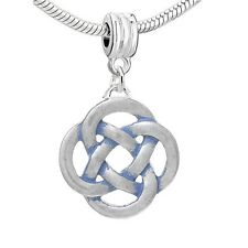 """ Celtic Knot "" Dangle Charm Spacer Bead for Snake chain charm Bracelets"