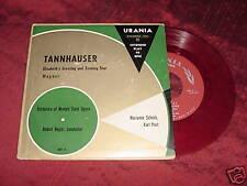 TANNHAUSER - WAGNER - MARIANNE SCECH KARL PAUL - 45 EP