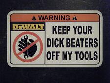 DeWalt Tool Box Warning Sticker - Gold - Must Have!! mac snapon