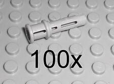 LEGO Technic - 100x Pin mit Stopper neu hellgrau  Pins Stop Bush Verbinder 32054