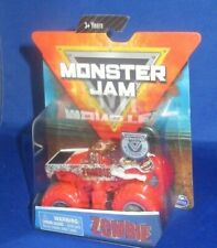 AUTHENTIC MONSTER JAM 1:64 HOT MONSTER TRUCK ZOMBIE RED 2019 , NEW