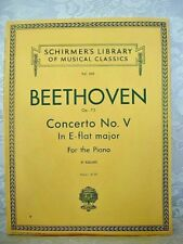 BEETHOVEN Concerto No. V(5) Piano Sheet Music Book - w/Orchestral Accompaniment