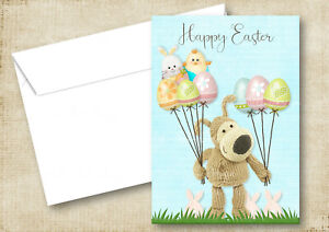 QUALITY BOOFLE BALLOONS EASTER GREETING CARDS OR THANK YOU CARDS MUM DAD FAMILY