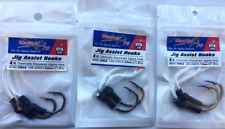 3 Packs Of  Assist Jig Fishing Hook 3 Different Sizes Tackle Special Offer