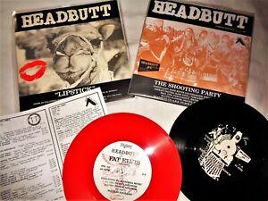 """HEADBUTT VINYL 45's LOT Punk Kbd Alternative Rock Grunge RARE LIMITED 7"""" Records"""