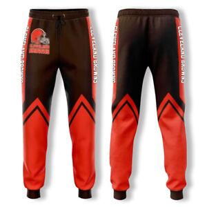 Cleveland Browns Football Sweatpants Sport Pants Jogging Pants Casual Trousers