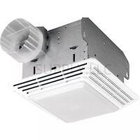 "BATHROOM CEILING EXHAUST FAN LIGHT White Grille Shower Bath Ventilation 4"" Duct"