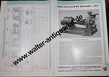 Prospekt um 1935 Borsig Hall Berlin Pumpen-Fabriken Werbung Reklame 4-seitig
